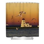 Cascumpec Lighthouse On Prince Edward Island Shower Curtain
