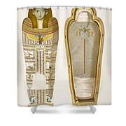 Case And Mummy In Its Cerements Shower Curtain
