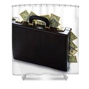 Case Full Of Money Shower Curtain
