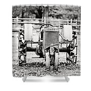 Case Tractor - Bw Shower Curtain