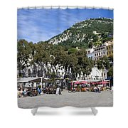 Casemates Square In Gibraltar Shower Curtain