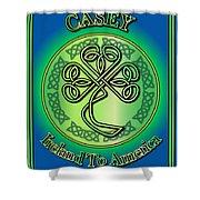 Casey Ireland To America Shower Curtain