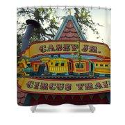 Casey Jr Circus Train Fantasyland Signage Disneyland Shower Curtain