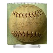 Casey Stengel Baseball Autograph Shower Curtain
