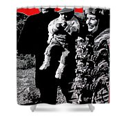 Cash Family In Red Old Tucson Arizona 1971-2008 Shower Curtain
