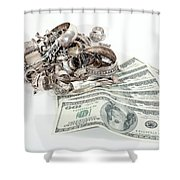 Cash For Sterling Silver Scrap Shower Curtain