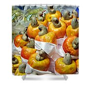 Cashew Fruit - Mercade Municipal Shower Curtain
