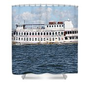 Casino Boat Coming Into Port Shower Curtain