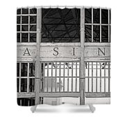 Casino Bw Shower Curtain