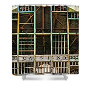 Casino In Multi-color Shower Curtain by Colleen Kammerer