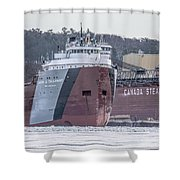 Cason Calloway Freighter Shower Curtain