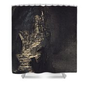 Casquets Lighthouse Shower Curtain