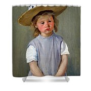 Cassatt's Child In A Straw Hat Shower Curtain