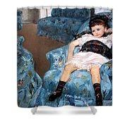 Cassatt's Little Girl In A Blue Armchair Shower Curtain