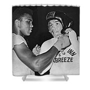 Cassius Clay And Johansson Shower Curtain