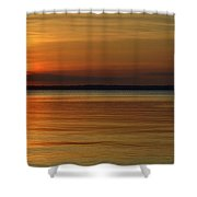 Cast Away - Young Child Fishing From A Pier On The Indian River Bay As The Sun Sets Across The Water Shower Curtain