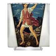 Castagno's David With The Head Of Goliath Shower Curtain