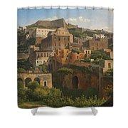 Castel Sant'elmo From Chiaia. Naples Shower Curtain