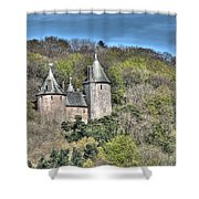 Castell Coch Cardiff Painterly Shower Curtain