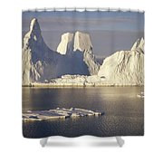 Castellated Iceberg East Antarctica Shower Curtain