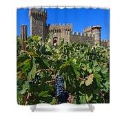 Ripe On The Vine Castelle Di Amorosa Shower Curtain