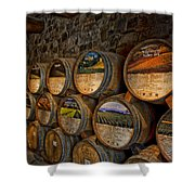 Castello Di Amorosa Of California Wine Barrels Shower Curtain