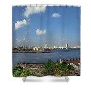 Castillo El Morro Havana Cuba Skyline Shower Curtain