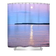 Casting Of Light In The Night Shower Curtain