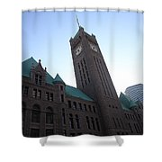 Castle And Clock Tower Shower Curtain