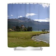 Castle And Mountain Shower Curtain