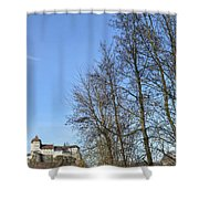 Castle And Trees Shower Curtain