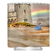 Castle By The Sea Shower Curtain