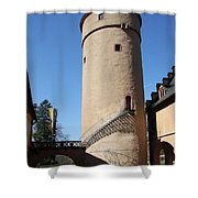 Castle Courtyard Shower Curtain