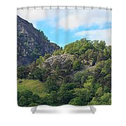 Castle Crag In Borrowdale Shower Curtain
