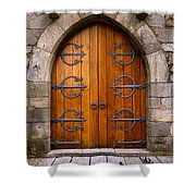 Castle Door Shower Curtain by Carlos Caetano