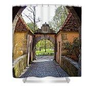 Castle Gate Rothenburg Ob Der Tauber Shower Curtain