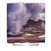 Castle Geyser Shower Curtain