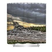 Castle Geyser - Yellowstone Shower Curtain
