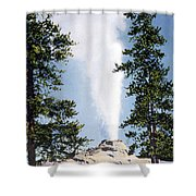 Castle Geyser Yellowstone Np Shower Curtain
