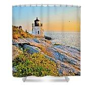 Castle Hill Lighthouse 1 Newport Shower Curtain