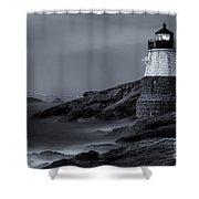 Castle Hill Lighthouse Bw Shower Curtain