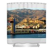 Castle In Almeria Spain Shower Curtain