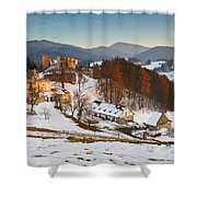 castle in northen Slovakia Shower Curtain