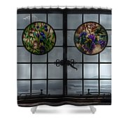 Castle In The Clouds Stained Glass To Winnipesaukee - Greeting Card Shower Curtain