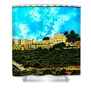 Castle In The Hot Summer Sun Shower Curtain