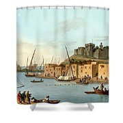 Castle In The Island Of Torosa Shower Curtain
