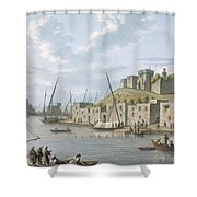 Castle In The Island Of Tortosa, 1805 Shower Curtain