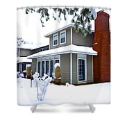 Castle In The Snow Shower Curtain