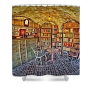 Castle Map Room Shower Curtain by Susan Candelario