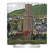 Castle Of The Rhine Shower Curtain
